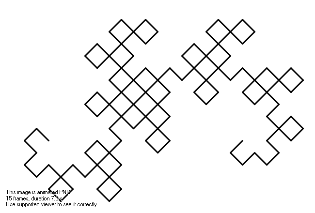 Animated Dragon curve